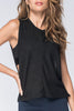 Bordeaux Rib Tank / Black