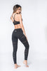 Laurent Lasercut Legging - Black