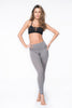 Laurent Laser Cut Legging - Grey