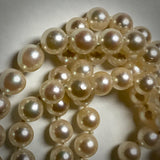 "Cultured pearl strand, Akoya, 26"" long, 6-6.5mm, continuous"