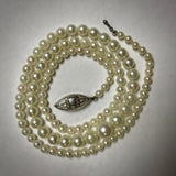 "Graduated Akoya 3-6.75mm Cultured Pearl 17"" necklace"