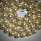"16"" uniform Akoya cultured pearl necklace 14KW clasp 5.5-6.0mm"