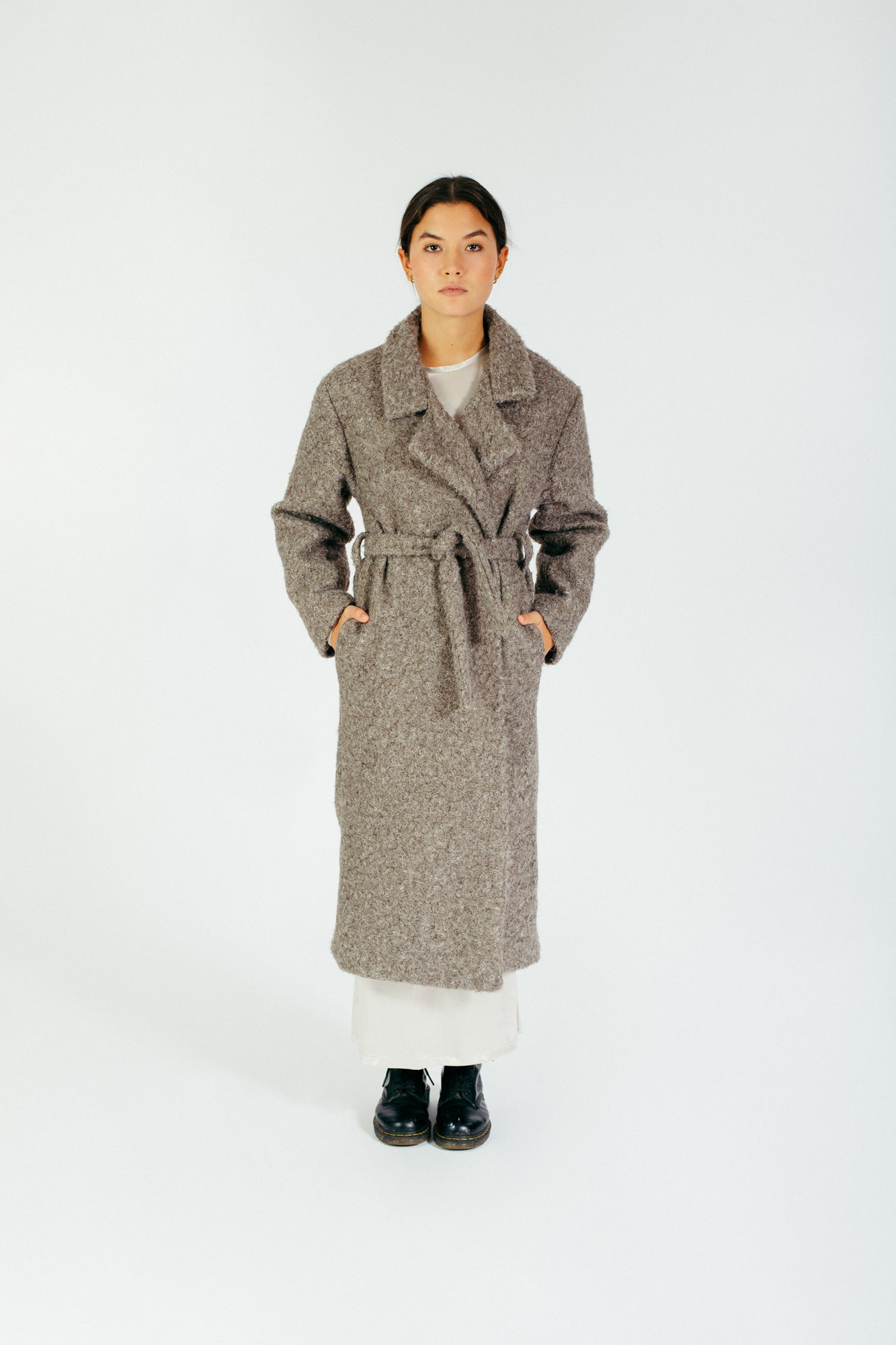9778 - SALVATORE COAT - GREIGE -BYOU by Patricia Gouveia