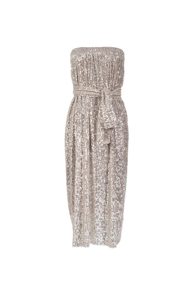 9770 - DOWA - SILVER SEQUINS DRESS -BYOU by Patricia Gouveia