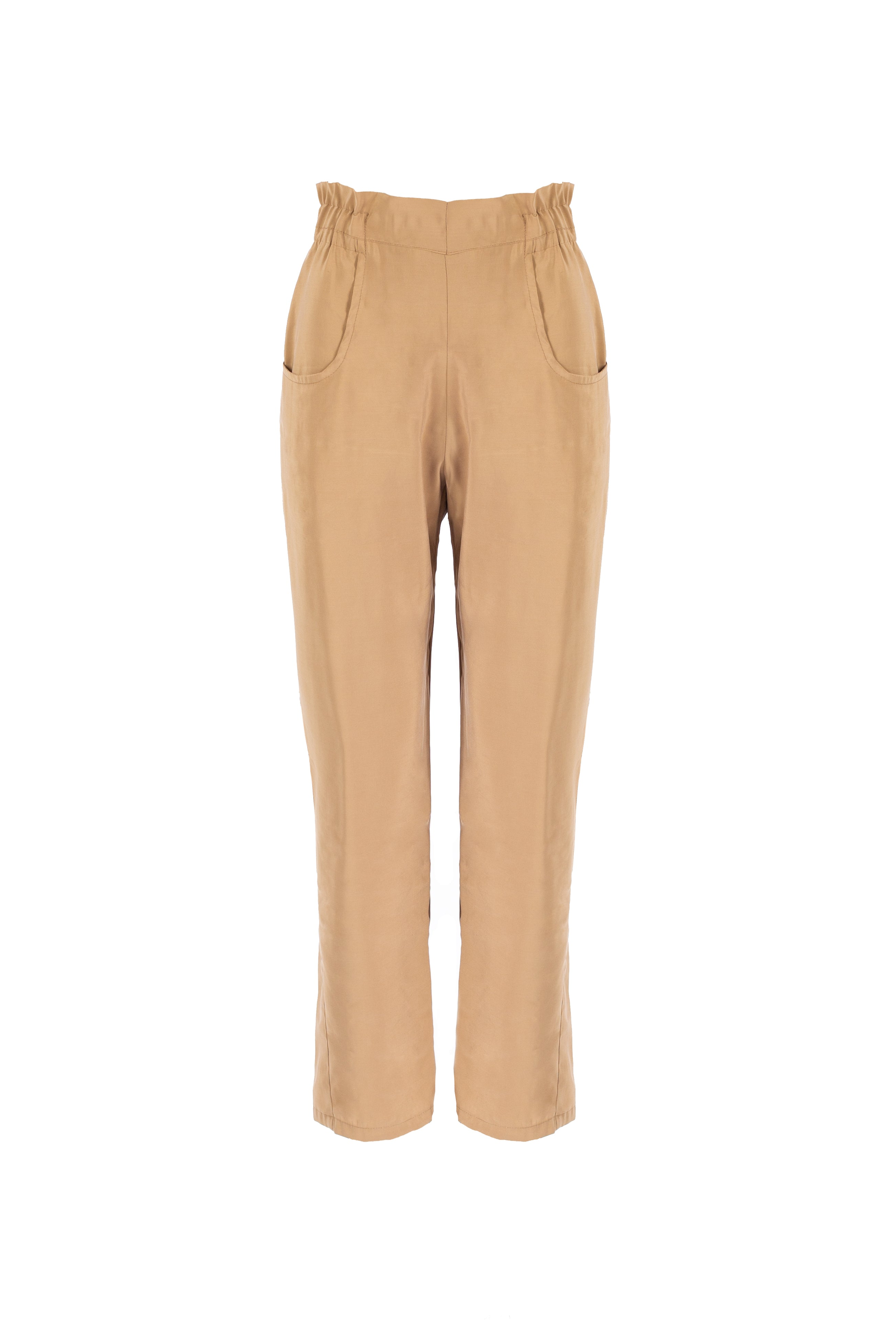 9758 - GAO - CREMA PANTS IN CUPRO -BYOU by Patricia Gouveia