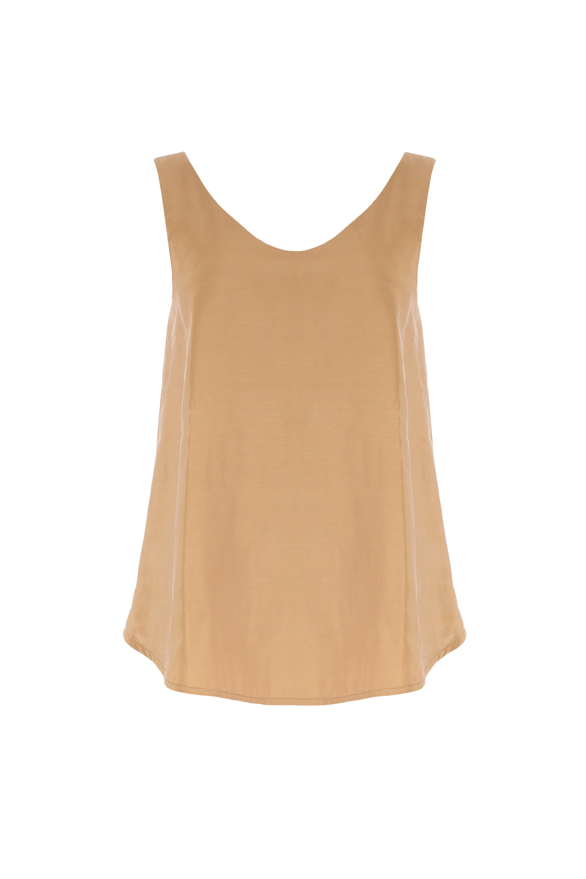 9757 - GAO - CREMA TOP IN CUPRO -BYOU by Patricia Gouveia