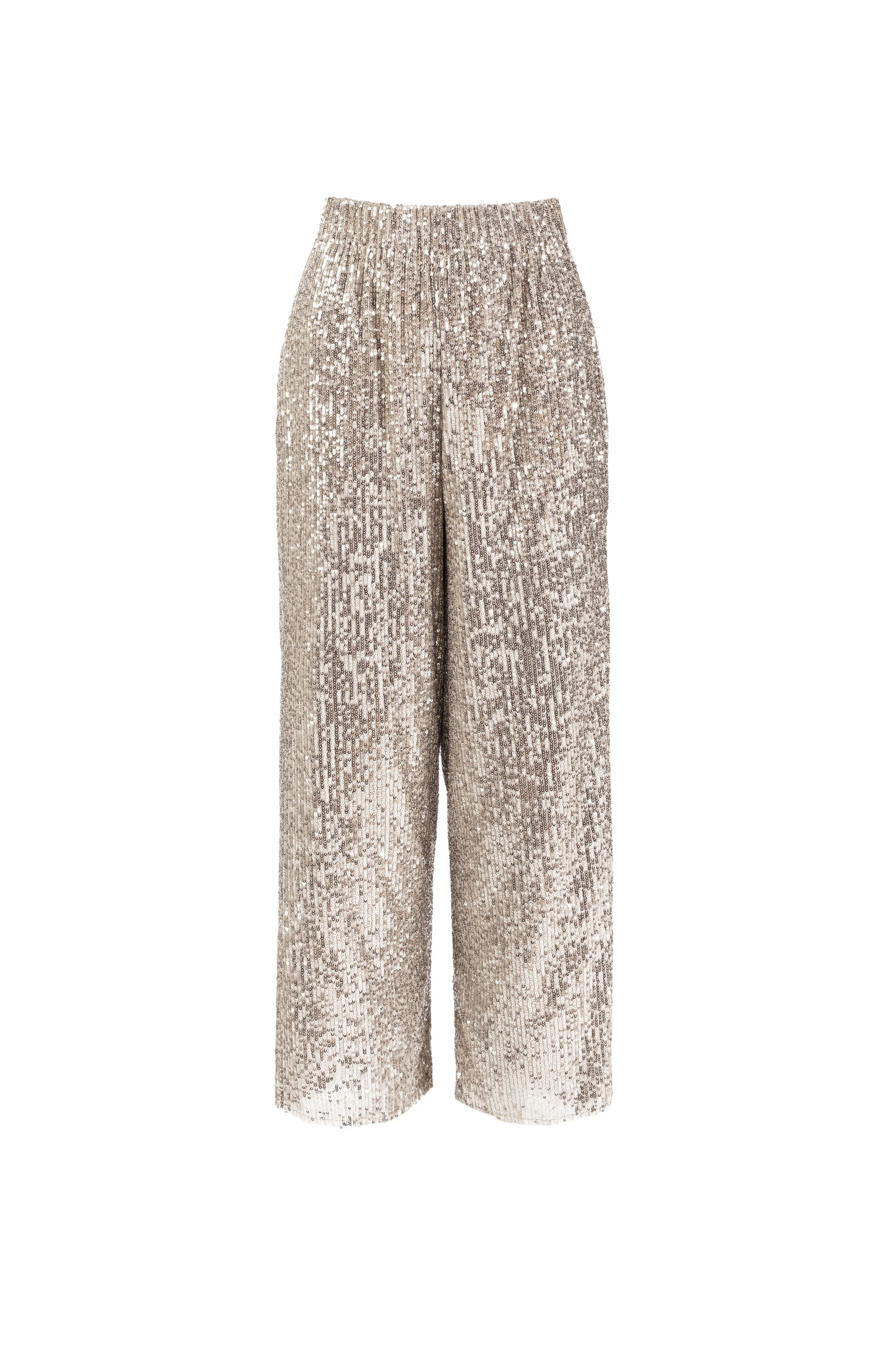9775 - OUANI - SEQUINS SILVER PANTS -BYOU by Patricia Gouveia