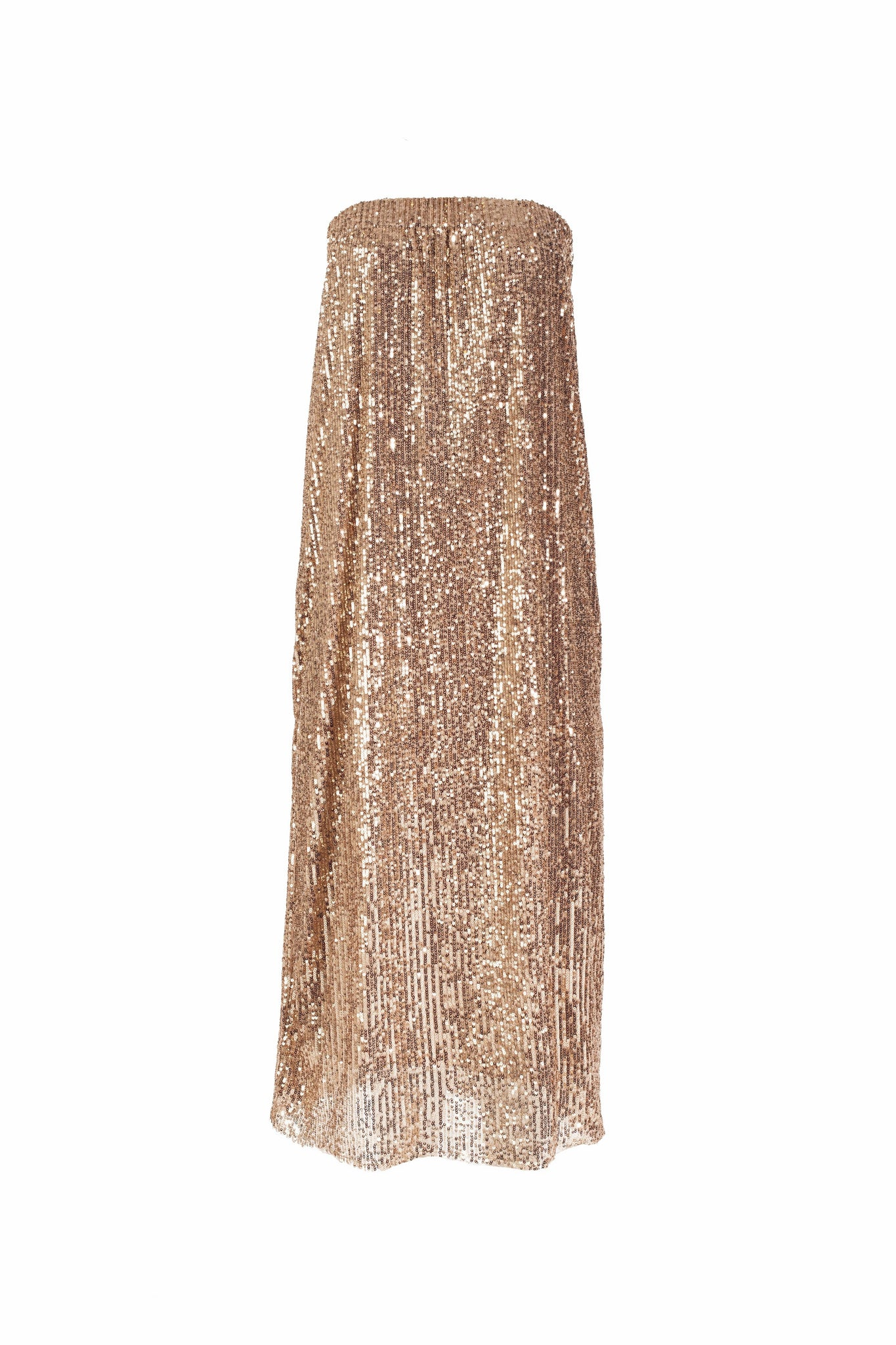 9771 - LIRA - SEQUINS GOLD DRESS -BYOU by Patricia Gouveia