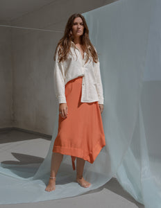 Sense | deep carrot orange skirt