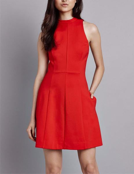 Pink Stitch Keeping Company Dress in Scarlet