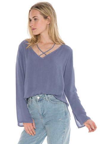 Bella Dahl Stapped V-Neck