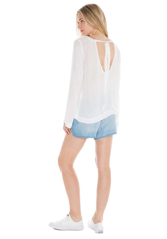 Bella Dahl Bell Sleeve Tie Back Shirt