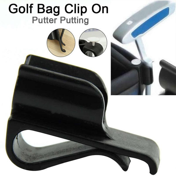 Golf Bag Clip On Putter Putting Organizer Club Durable Clamp Holder