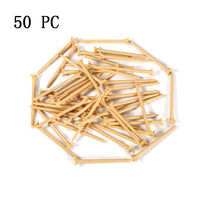 50/100Pc Brand Outdoor Golf Nail 83mm Golf Ball Wood Tee Outdoor sports wooden Tees Golf Train Aid For Beginer + Free shipping!