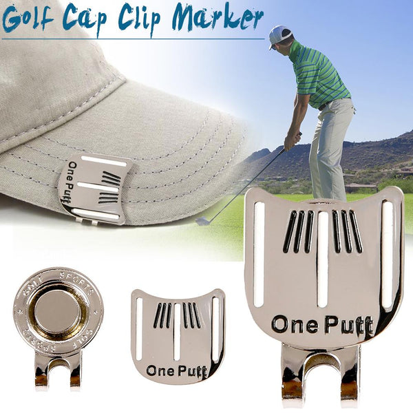 Hot Sale Golf Cap Clip Golf Ball Aiming Marker Alloy Professional Golf Training Aids Accessories High Quality Promotion