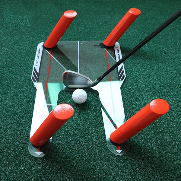 PC Golf Alignment Trainer Aid Swing Training Speed Trap Practice Base 4 Speed Golf Accessories Tool Golfs Training Aids with Bag