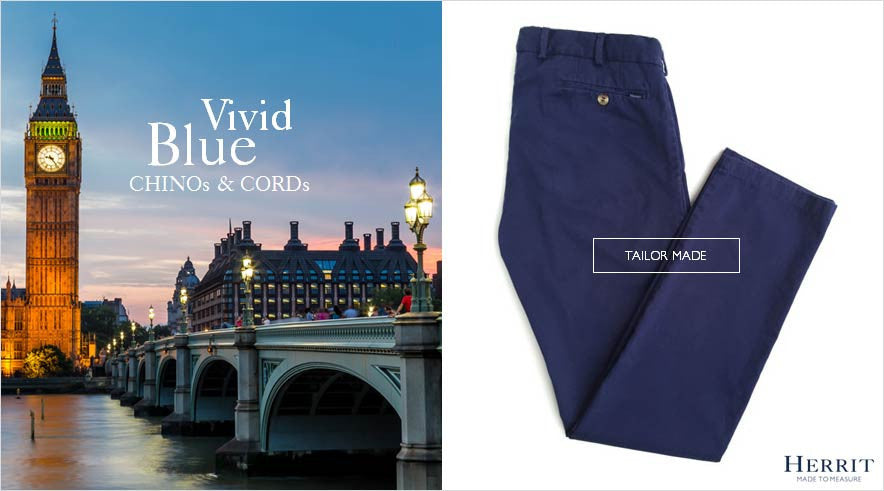 HERRIT Made-To-Measure trousers tailor-made Vivid Blue