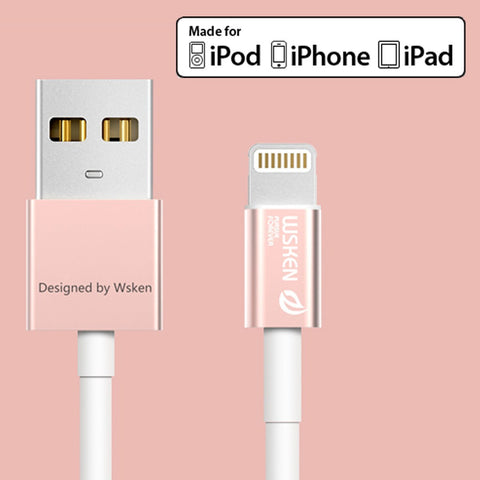 WSKEN MFI iCable iPhone Lightning Cable 1M (Rose) - AVT Express  - 5