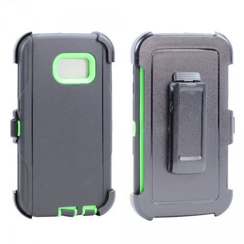 Galaxy S6 Edge Armor Defender Case with Belt Clip - Green - AVT Express