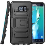 i-Blason Galaxy S6 Edge Plus Prime Black Dual Layer Holster Case with Kickstand and Belt Clip - AVT Express  - 1