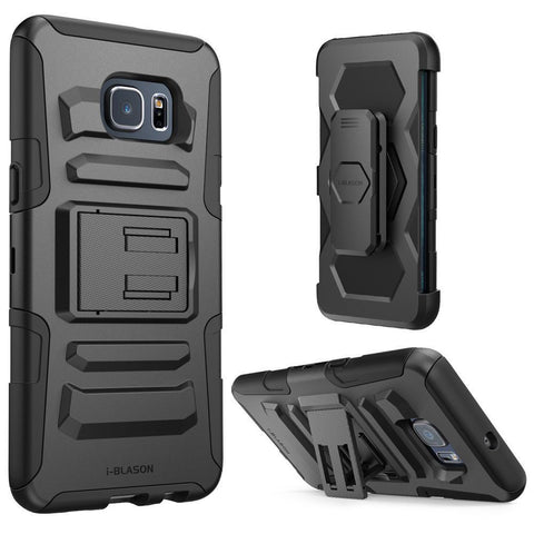 i-Blason Galaxy S6 Edge Plus Prime Black Dual Layer Holster Case with Kickstand and Belt Clip - AVT Express  - 4