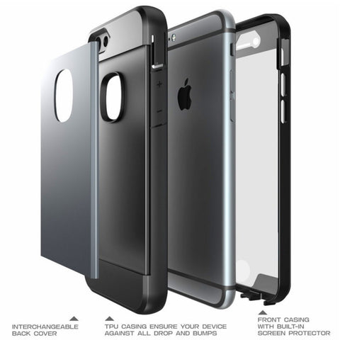 iPhone 6/6S 4.7 Slim Defender Case with Screen (Black) - AVT Express  - 1