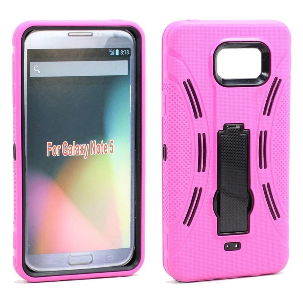 sports shoes bbe7d 02e15 Samsung Galaxy Note 5 Armor Hybrid Stand Case - Pink