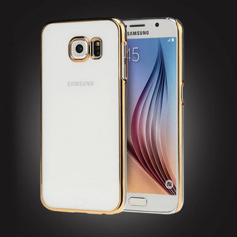 Samsung Galaxy S6 Crystal Clear Hard Case - Champagne Gold - AVT Express