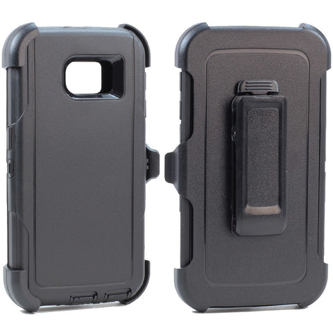 Samsung Galaxy S6 Premium Armor Defender Case with Clip - AVT Express  - 1