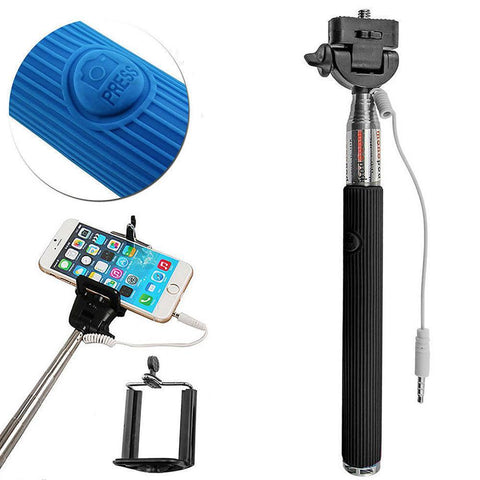 Universal Wired Selfie Stick with Remote Small Clip - AVT Express  - 3