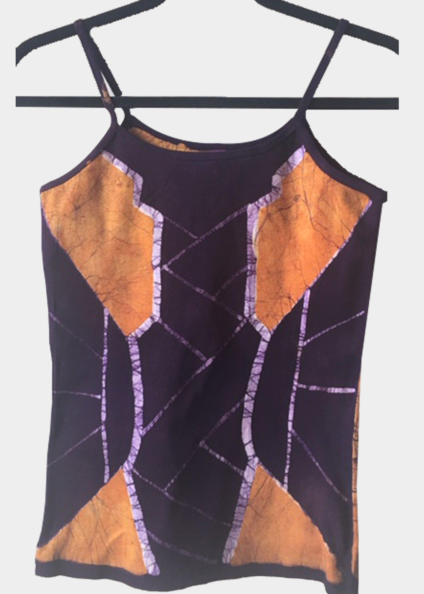 Gold and Purple Fitted  Tank Top with Wakanda Inspired