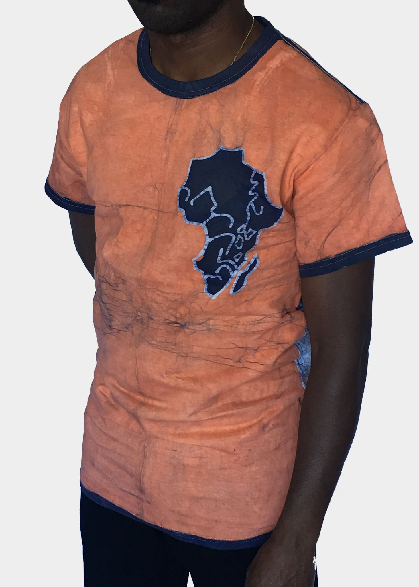 Sand Short Sleeve T-shirt with Africa Map