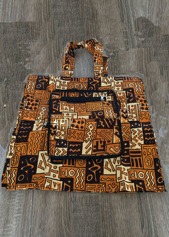 Foldable Tote Bag Bogolan designs