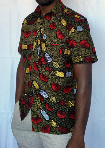 African Print Shirt Fitted