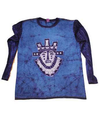 Mask blue long sleeves