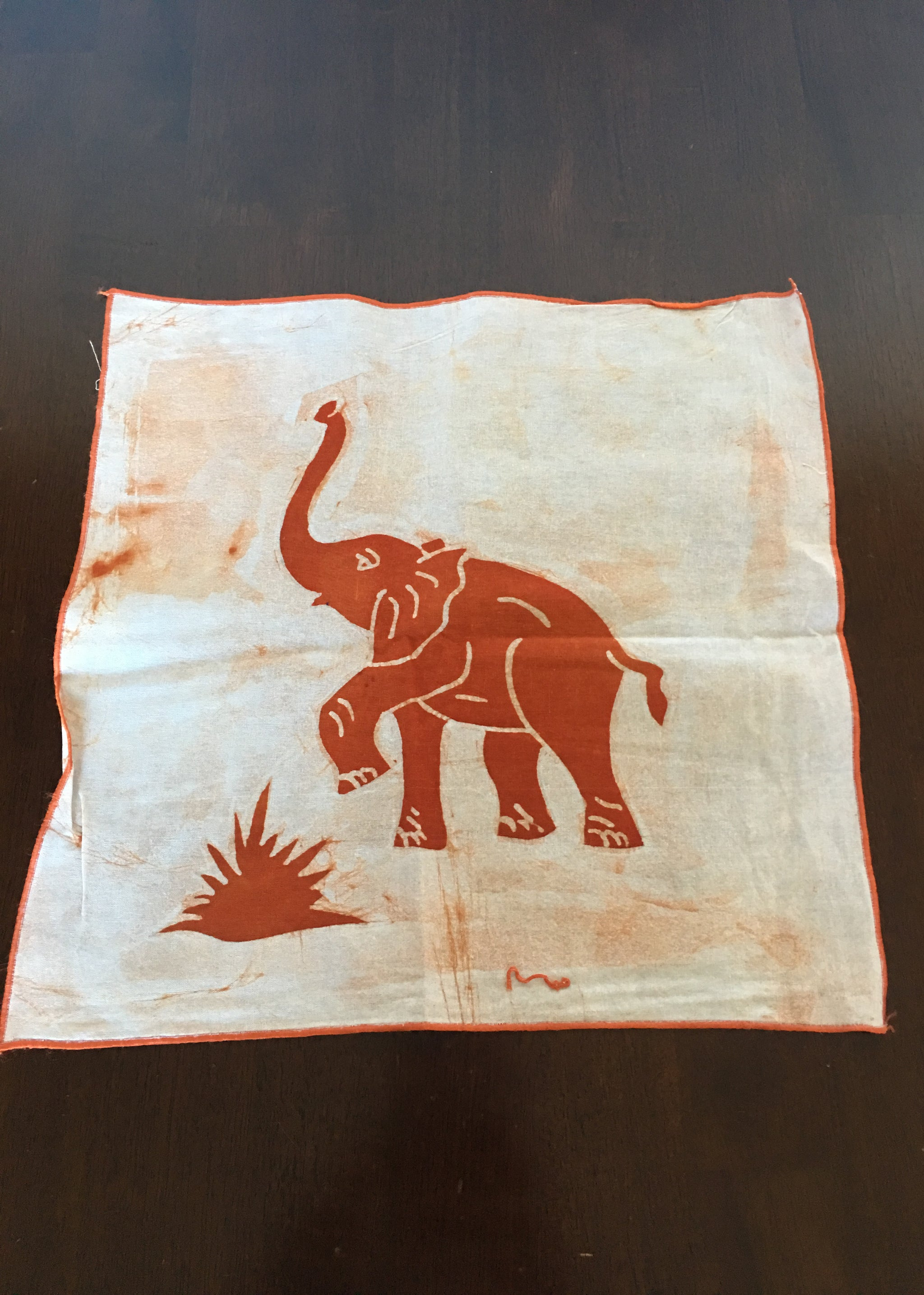 "Table Cloth Elephants ""Prospective"""