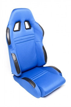 Sport seat - blue cloth, adjustable, right