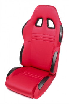 Sport seat - red cloth, adjustable, left