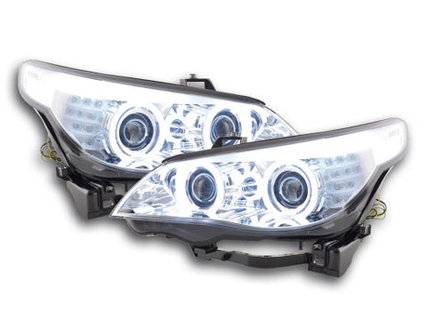 BMW serie 5 E60/E61 Yr. 03-04 Headlight Angel Eyes CCFL Xenon  chrome RHD