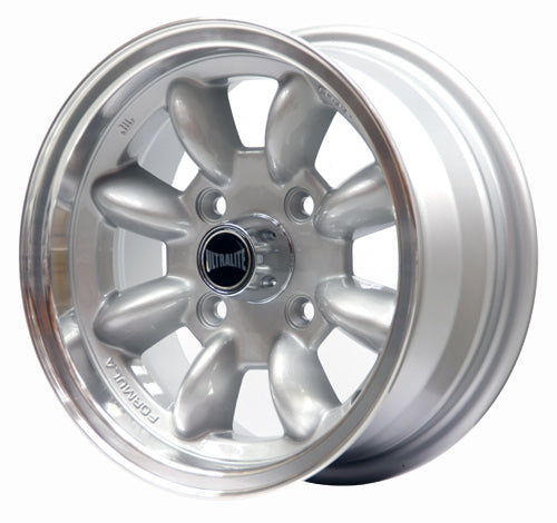 SPML2 / ULTRALITE MINI WHEELS 13x6J - ET10 - 4x101.6 PCD - SILVER WITH POLISHED RIM