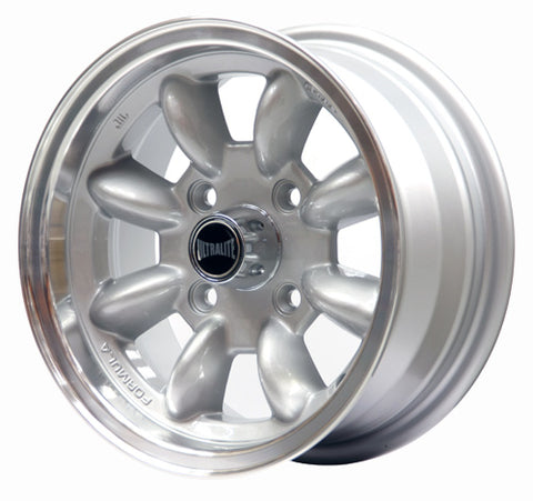 SPML2F / ULTRALITE WHEELS (Ford) 13x6J - ET10 - 4x108 PCD - SILVER WITH POLISHED RIM