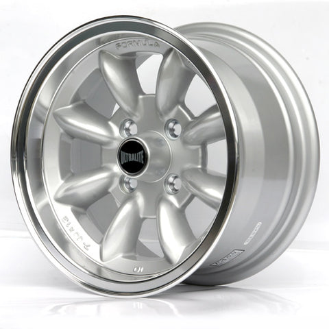 SPML3 / ULTRALITE MINI WHEELS 13x7J - ET10 - 4x101.6 PCD - SILVER WITH POLISHED RIM
