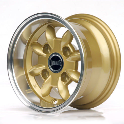 SPML7-3G / ULTRALITE MINI WHEELS 10x6J - ET-3 - 4x101.6 PCD - GOLD WITH POLISHED RIM