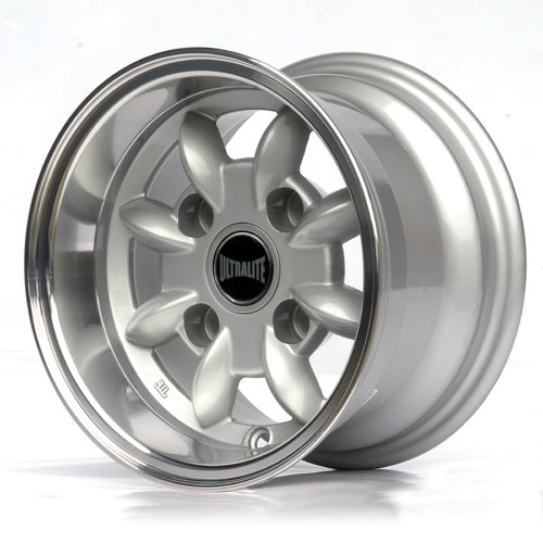 SPML7-3S / ULTRALITE MINI WHEELS 10x6J - ET-3 - 4x101.6 PCD - SILVER WITH POLISHED RIM