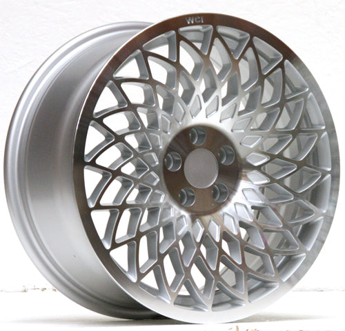 UL25-1775-2SMR / REPLICA MT10 WHEEL - 17x7.5 INCH - ET35 - 114-x5 PCD - SILVER MACHINE FACE - RH