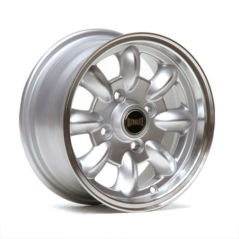 ULML1P / ULTRALITE MINI WHEELS 12x5.5J - ET20 - 4x101.6 PCD - GLOSS SILVER + MACHINED LIP