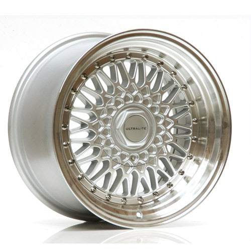 ULTRALITE RS 15x8 - ET25 - 4x100+108 PCD - SILVER POLISHED RIM
