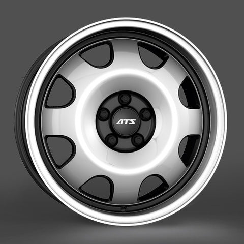 ATS Cup 18x8.0  5x112 black/polished alloy wheel