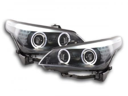 BMW serie 5 E60/E61 Yr. 05-08 Angel Eye Headlight LED Xenon  black chrome RHD