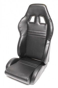 Sport seat - black faux leather, adjustable, right